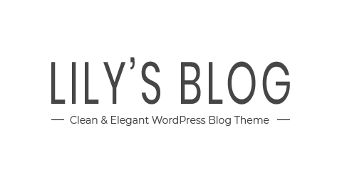 6c55d603bc316a Lily – Clean & Elegant WordPress Blog Theme